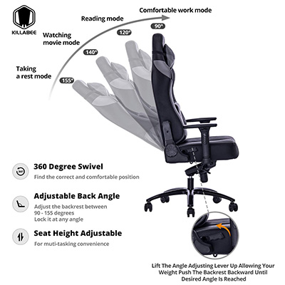 Marvelous Killabee Big And Tall 400Lb Memory Foam Gaming Chair Review Pdpeps Interior Chair Design Pdpepsorg